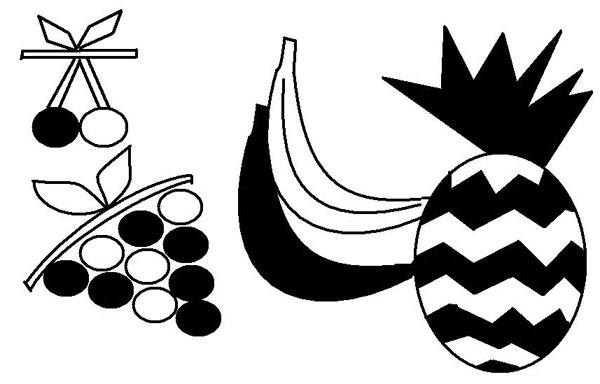 Clipart frutta bianco nero 4you gratis for Clipart frutta
