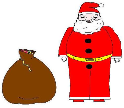 Immagini Babbo Natale Con Sacco.Clipart Babbo Natale Con Sacco 4you Gratis