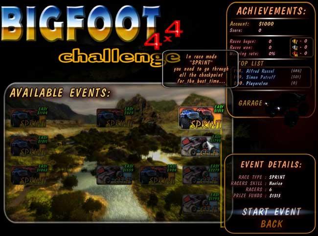 Bigfoot 4x4 Challenge