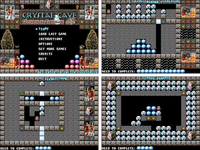 Screenshot Crystal Cave Christmas Treasure