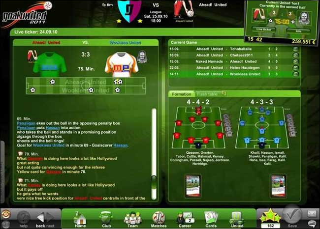 Screenshot GoalUnited