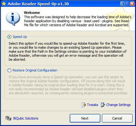 Adobe Reader SpeedUp
