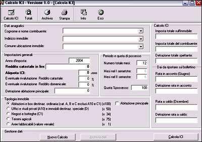 Calcolo ICI
