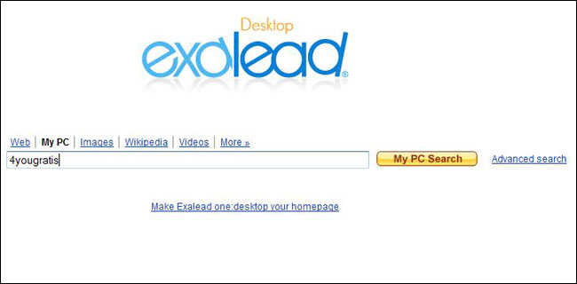Exalead Desktop Search