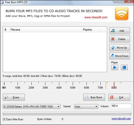 Free Burn MP3 CD