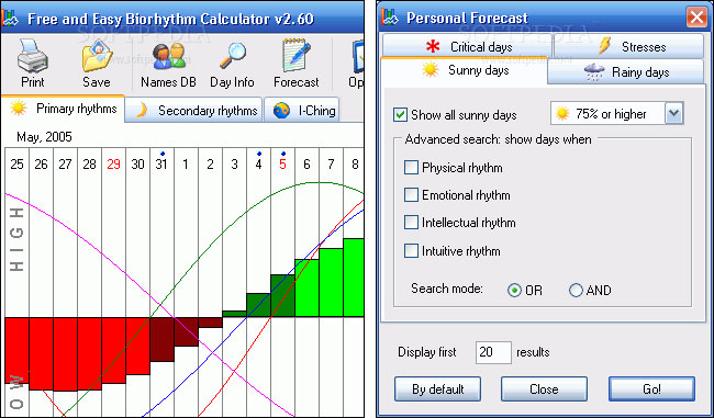 Chart, compare, and analyze your biorhythms using ...