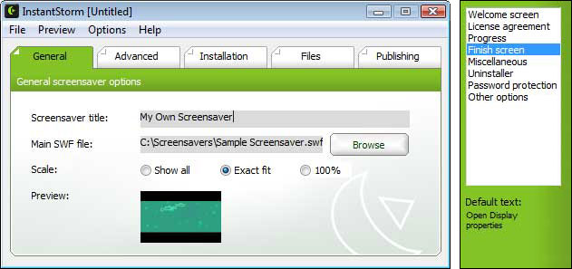 Instantstorm screensaver aus flash datei erstellen for Screensaver inter gratis