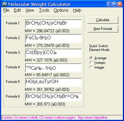 Molecular Weight Calculator