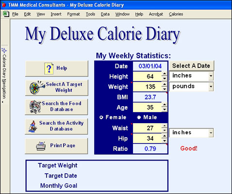 My Deluxe Calorie Diary