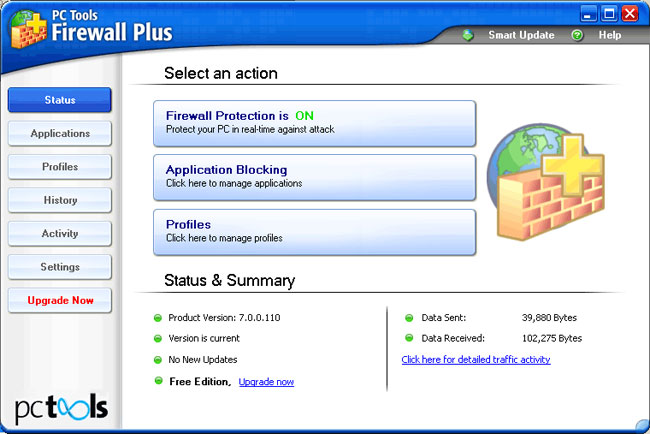 PC Tools Firewall Plus Free Edition