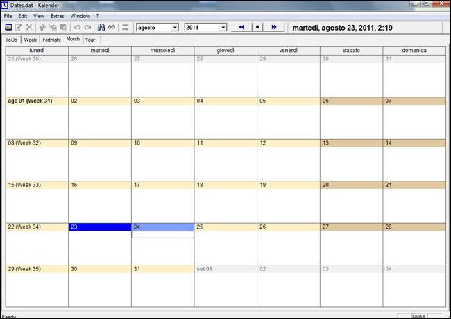Portable UK Kalender